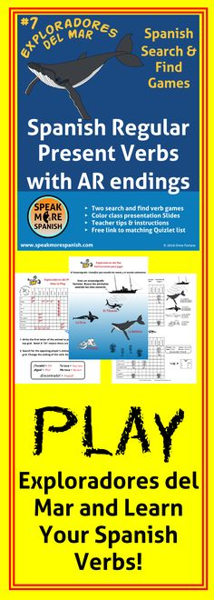 How to learn Spanish Verbs by Playing Games Juega y Aprende los verbos en español