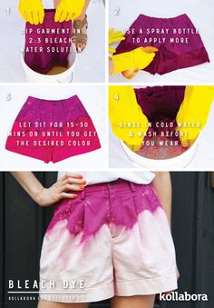 Bleach | 5 Easy Ways To Dye With Household Supplies