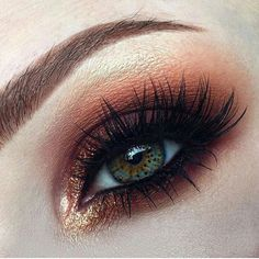 (Afflink/Ad) Shop for orange and gold tone eye makeup. Perfect for an evening party. Get your makeup supplies.