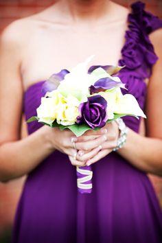 bridesmaid's flowers tSuper pretty! Photo by Ashley #Minnesota #weddings #weddingflowers