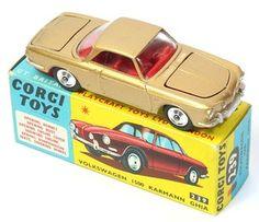 Corgi Toys 239 VW Karmann Ghia scarce Gold Metallic paint