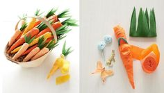 Wrapidee für Ostern: Geschenke in Karottenform mit Krepppapier einpacken, süß! :)