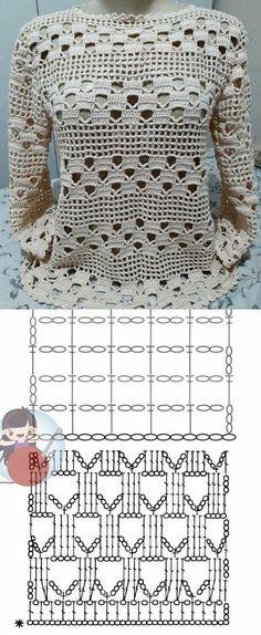 Crochet Stitches Patterns, Crochet Chart, Crochet Motif, Crochet Hooks, Knit Crochet, Joining Crochet Squares, Christmas Crochet Patterns, Knitting Charts, Crochet Videos
