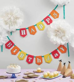 Is there a special birthday coming up? Make someone feel like the life of the party with this adorable birthday bunting from Patrick Lose! Appliquéd  pennants, matching satin stitching on the letters and ribbon holding the bunting together, make for an adorable and cohesive look!