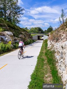 Run or bike the Silver Comet Trail, a 60-mile former rail trail from Atlanta to Alabama
