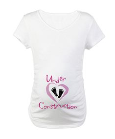 Omgosh lol. Randy always says I'm under construction when I'm sick. I'm sure he'll say the same when I'm pregnant.