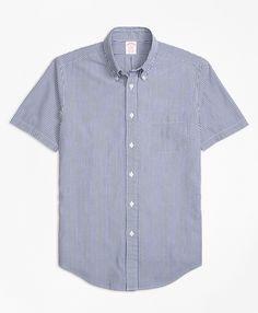 8f697de9c1e Pure cotton seersucker. Regent fit. Button Down Collar