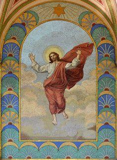 Viktor Foerster - Zmrtvýchvstalý Kristus (podle Raffaela Santi) Vyšehradský hřbitov (kolem 1908)