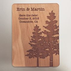 Wood magnetic save the date Ink Stamps, Custom Products, Name Badges, Save The Date Cards, Special Events, Dates, Magnets, Wood
