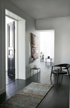Love the dark floor and light walls