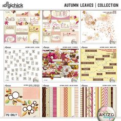 Autumn Leaves | Collection by Akizo Designs. Now available at The Digichick. 50% off until Oct. 19