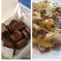 My first batch of fat bombs.. Recipe needs a little tweaking but they are good and today's brunch was shaved steak and cheesy eggs with southwest chipotle seasoning (McCormick salt free) #lowcarb #ketogenic #keto #fasting #fatbombs #coconutoil #coconutbutter #chocolate  Now getting ready to go to our cousins stable to see the horses ... Happy Saturday  by kereliz_lowcarb