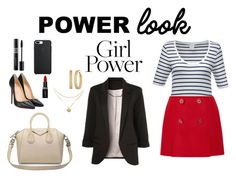 """""""girl power"""" by nerea-her on Polyvore featuring moda, Prada, WithChic, Christian Louboutin, Givenchy, GUESS, Smashbox y Christian Dior"""
