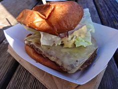 """4505 Meats """"Best Damn Cheeseburger"""" Ferry Plaza San Francisco"""