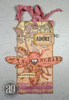 Annette's Creative Journey: Valentine-themed Technique Tags