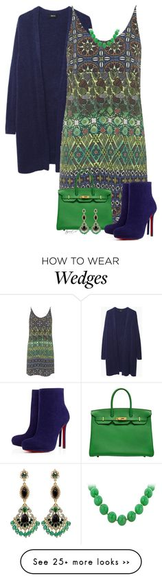 """""""Matching Cardi and Wedges"""" by tayswift-1d on Polyvore featuring Zucca, Topshop, Christian Louboutin and Badgley Mischka"""