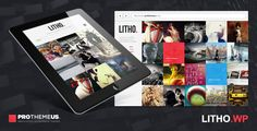Litho is a grid-based fullscreen portfolio WordPress theme with stunning looks and functionalities. Create custom galleries by selecting specific categories such as your portfolio, posts, pages, Instagram and Flickr to create either all-in-one galleries or a category specific gallery.