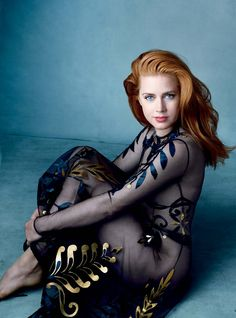 Amy Adams in Valentino Haute Couture photographed by Annie Leibovitz, Vogue, December 2014.