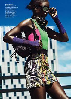 Jeneil Williams for Glamour Magazine | fashion editorial, fashion photography, sport chic style inspiration