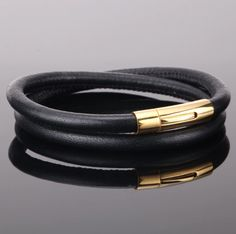 EVERS - pánsky náramok z hovädzej kože a chirurgickej ocele, dĺžka: 21st, Bracelets, Leather, Jewelry, Twitter, Fashion, Moda, Jewlery, Jewerly