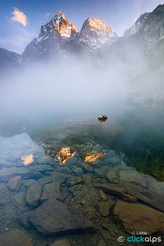 MISTY REFLECTIONS by Luca Gino on 500px - long weekend - Monte Viso
