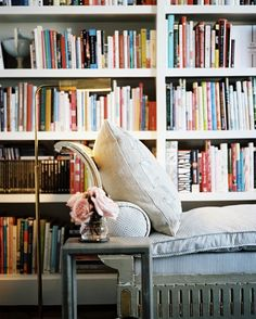 reading nook...I need serious wall space for all of my books