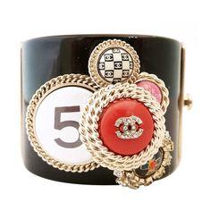 CHANEL - Vintage Chanel Stone Jeweled Medallions Bracelet found on Polyvore
