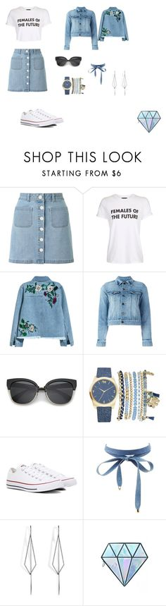 """""""Teen outfits"""" by marcyk-292 on Polyvore featuring Miss Selfridge, Topshop, H&M, Yves Saint Laurent, Mixit, Converse, Charlotte Russe, Diane Kordas and Unicorn Lashes"""