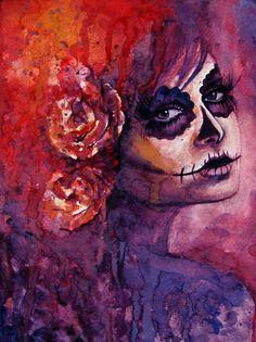 Dia De Los Muertos watercolor