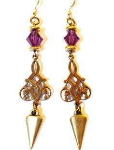 Majestic Purple Earrings by ShopBOHEMIA on Etsy, $23.00