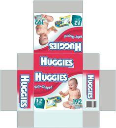 Imprimible - Pañales en miniatura 8 different diapers - 2 sizes