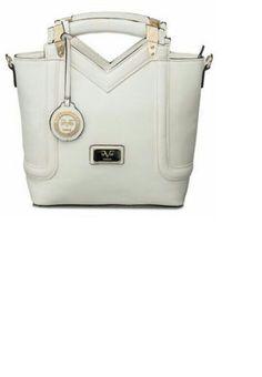 Versace 19.69 Abbigliamento Sportivo - Structured Tote (White) -  www.bnyhandbags.com fd004c211efee
