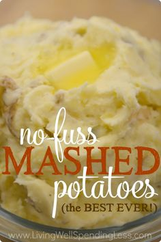 Think homemade mashed potatoes are too much work? Think again! These best ever no-fuss potatoes are FULL of rich creamy flavor, with no peeling required!