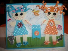 lalaloopsy card I made using su punches and grass scissors
