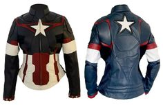 Avengers Age of Ultron Captain America Jacket For Women is now available - This is awesome.
