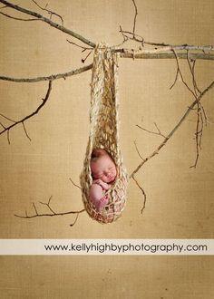 1 STORK POUCH Baby PhoTO PRoP YuMmY Newborn Hanging Cocoon Pod Pick Color KNiT to ORDeR Unigender Girl Boy OriGiNaL DESiGNER. $85.00, via Etsy.