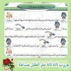 Arabic Alphabet Letters, Arabic Language, Learning Arabic, Grade 1, Homework, Montessori, Worksheets, English, Teaching