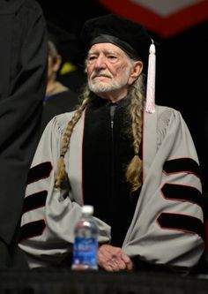 Willie Nelson receives an honorary doctor of music degree during the 2013 Berklee College Of Music Commencement at Berklee College of Music on May 11 in Boston.