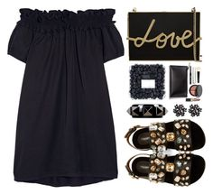 """Untitled #368"" by simona-altobelli ❤ liked on Polyvore featuring Clu, Dolce&Gabbana, Lanvin, Bobbi Brown Cosmetics, Valentino, monochrome, MyStyle and blackdress"