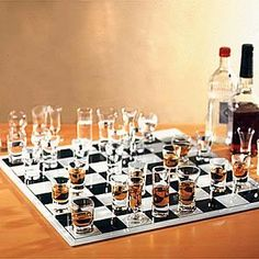 Cool Chess Board - Whiskey VS Vodka I guess