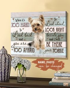 Yorkie Names, Yacht Interior, Canvas Poster, Custom Photo, Canvas Material, 5 Years, Scrapbook Pages, Cotton Canvas