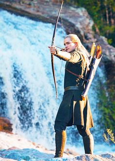 Gorgeous!  And the waterfall looks good too!<---- lol XD << But seriously, this is one of my favorite pictures of him. <3