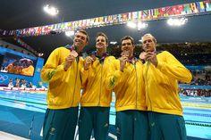 Christian Sprenger, James Magnussen, Matt Targett, and Hayden Stoeckel - I want the entire Australian swimming olympics team.