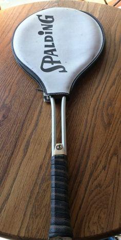 Spalding Aluminum Tennis Raquet original string Leather zip cover 4 3/8L vintage - http://sports.goshoppins.com/tennis-racquet-sports-equipment/spalding-aluminum-tennis-raquet-original-string-leather-zip-cover-4-38l-vintage/