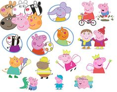90 PEPPA PIG - Images 300 dpi - Scrapbooking, Invitations, commercial use printable
