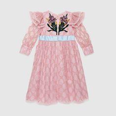 Girls Designer Dresses, Designer Baby Clothes, Girls Dresses, Party Dresses, Girls Fashion Clothes, Girl Fashion, Fashion Outfits, Stylish Clothes, Gucci Dress