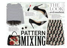 Pattern Mixing by andrea-tatis on Polyvore featuring polyvore, fashion, style, J.Crew, Prada, Jimmy Choo, Dolce&Gabbana, Irene Neuwirth, MAC Cosmetics, WALL, Tiffany & Co. and clothing