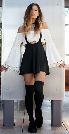 70's Chic Bw Outfit                                                                             Source