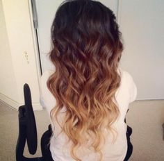 2 tone ombre but her 2nd level starts at my first and the last is a bleached blonde