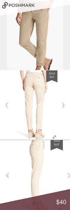 b56652b706b NWT Caslon Tan Oxford Chino Ankle Pants Size 6 12 NWT Caslon Tan Oxford  Chino Ankle Pants Size 6 Or 12 Caslon Pants Ankle   Cropped